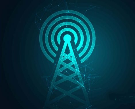 mobile telecommunication digital tower background design